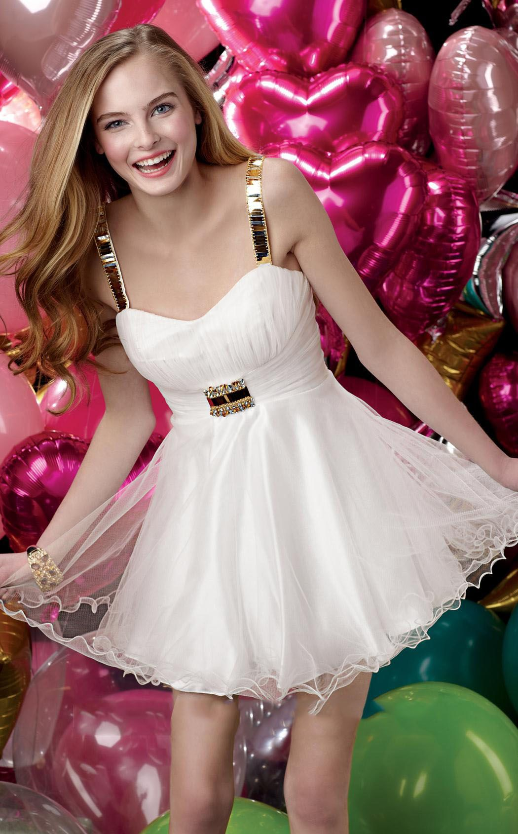 Fabulous Straps Appliques Sash/Ribbon Homecoming Dress ...