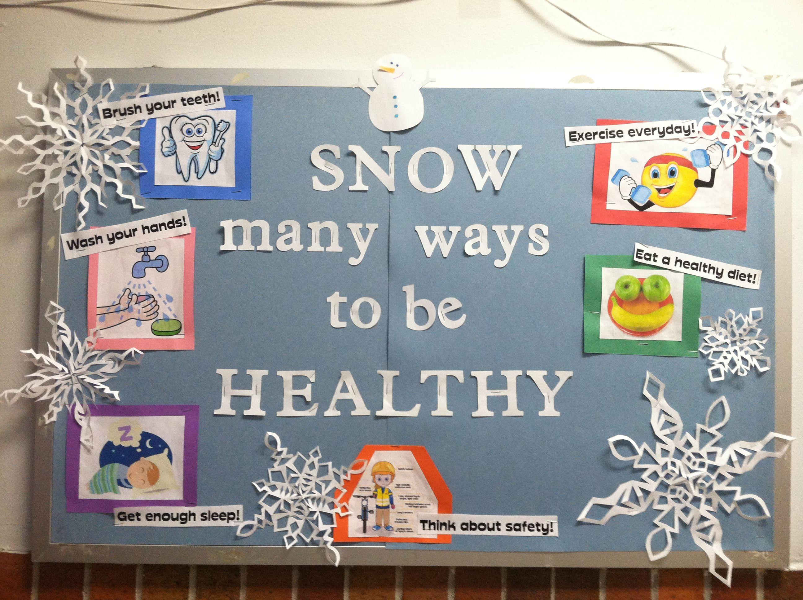 Nutrition Bulletin Board Winter Wonderland Vtwctr