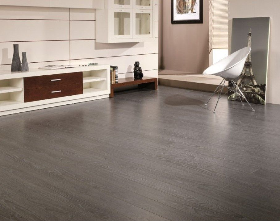 Minimalist Grey Hardwood Floors Boosting Your Contemporary