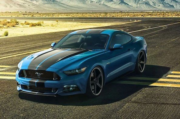 new mustang 2015 with stripes 2015 ford mustang dropped on a set of vossen wheels - Ford Mustang 2015 Blue