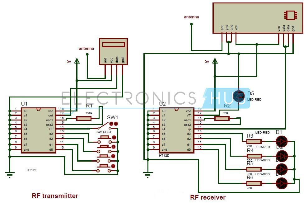 rf remote control circuit for home appliances withoutcircuit diagram of rf remote control for home appliances without using microcontroller