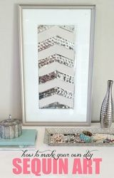 DIY Sequin Art