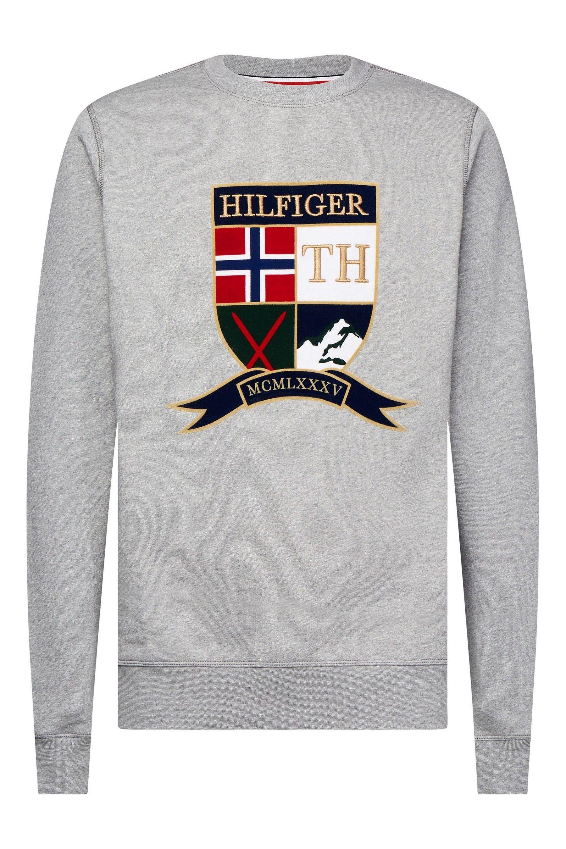 Mens Tommy Hilfiger Shield Artwork Sweatshirt Grey Ropa De Tommy Hilfiger Ropa Nike Sudaderas [ 2700 x 1800 Pixel ]