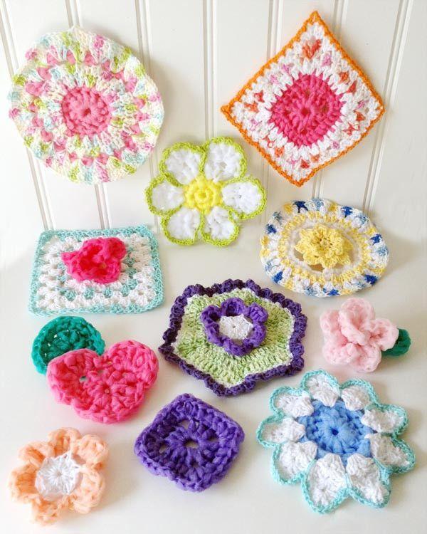 Scrubby Set Crochet Pattern   Accesorios para el hogar, Flores ...