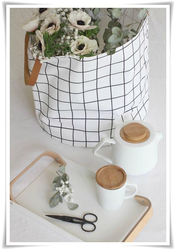 panier carreaux angel m lie sacs et cabas paniers. Black Bedroom Furniture Sets. Home Design Ideas