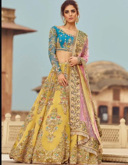Gorgeous Designer Lehenga in Yellow Color Lehenga with Embroidery work lehenga choli Designer Wedding lehenga choli bridal Lehenga