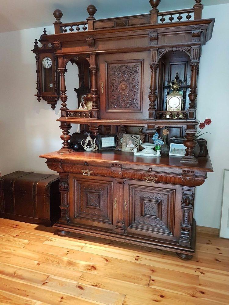 gr nderzeit buffet antiquit ten kunst mobiliar interieur schr nke ebay m bel in. Black Bedroom Furniture Sets. Home Design Ideas