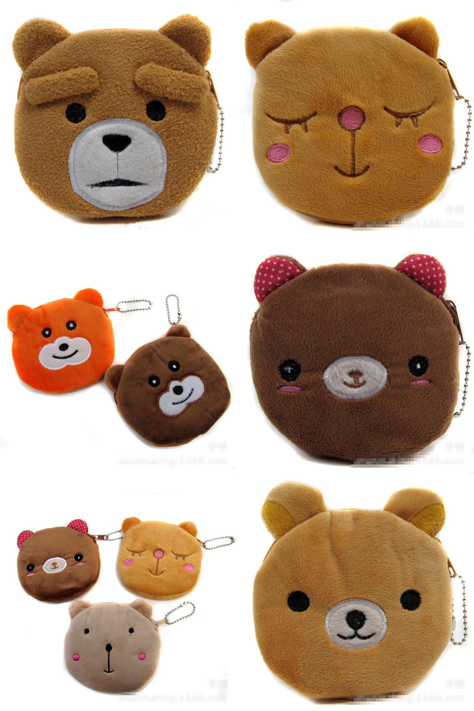 f4e210699a5cd [Visit to Buy] New Animals Small Coins Bag Girls Mini Bear Coin Purse  Change Wallet Women Key Card Holder Children Kids Gifts 8styles  #Advertisement
