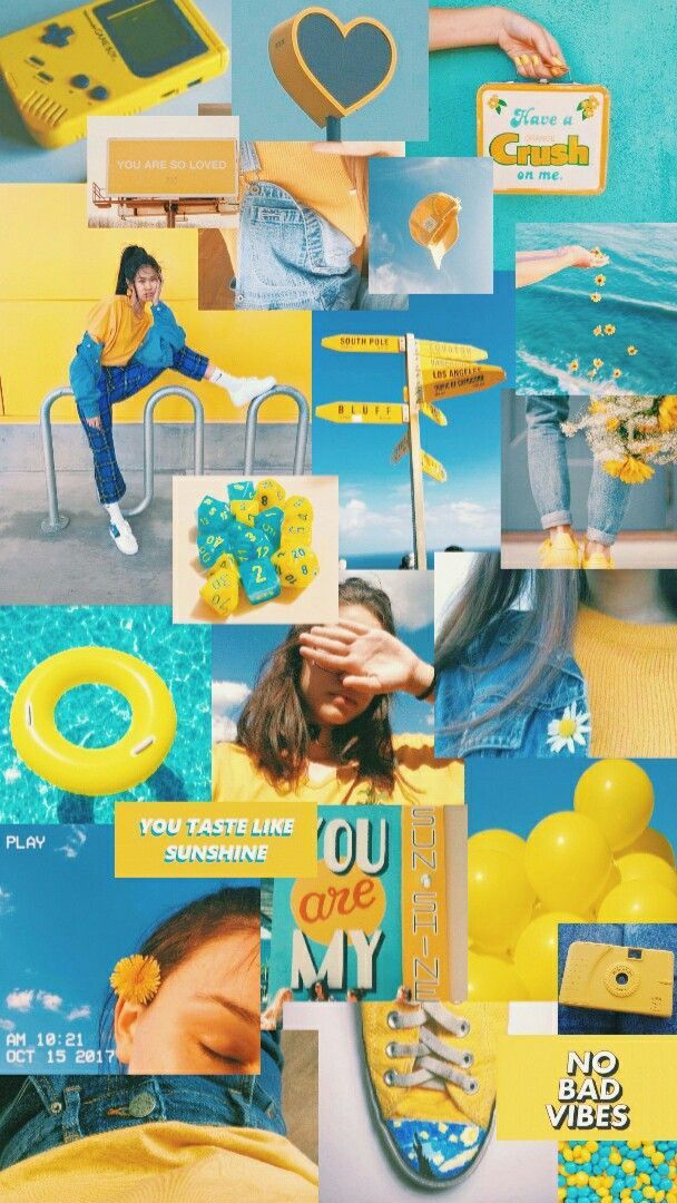 blue and yellow aesthetic | ♡ #yellowaesthetic