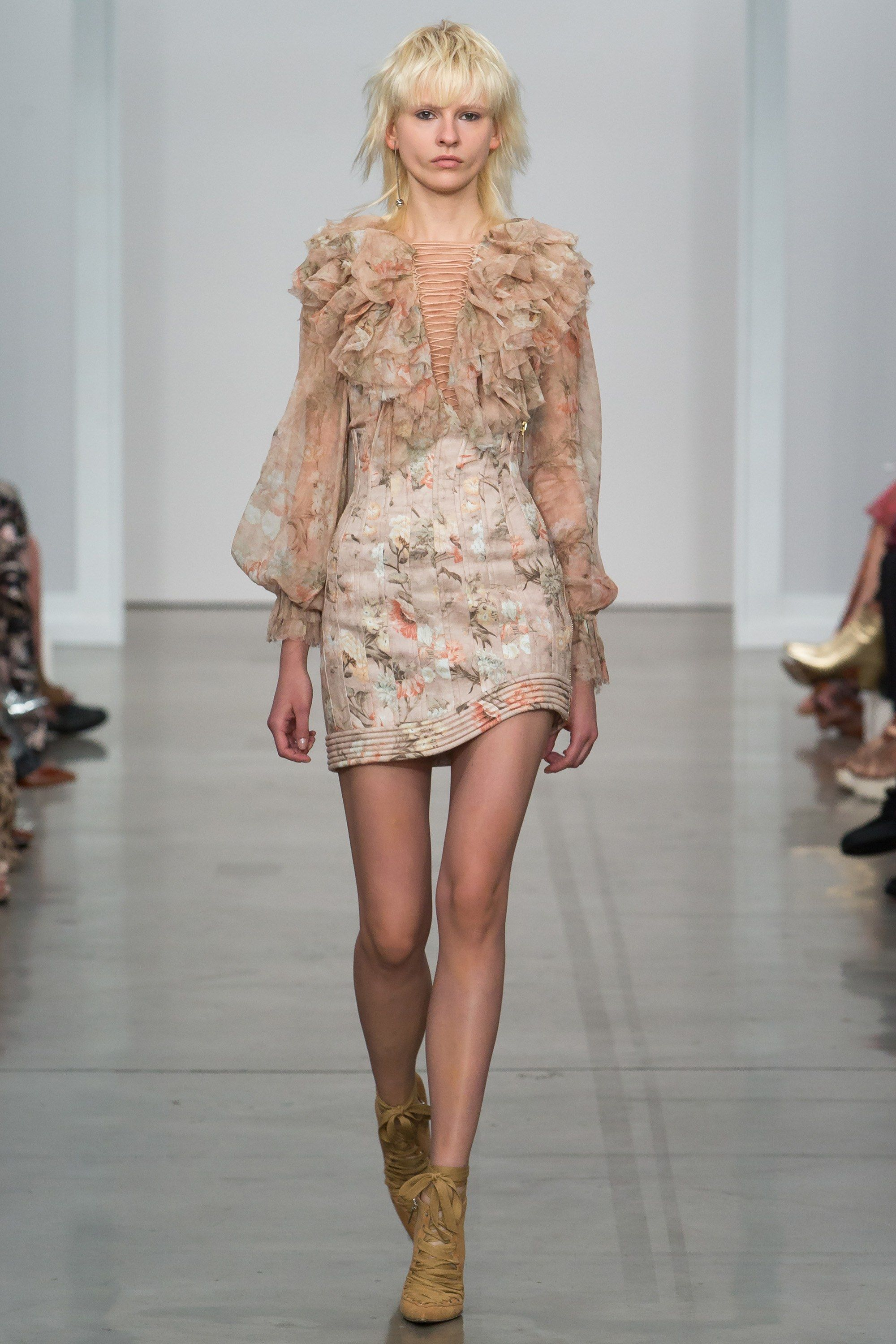 Zimmermann spring readytowear fashion show corsets photos