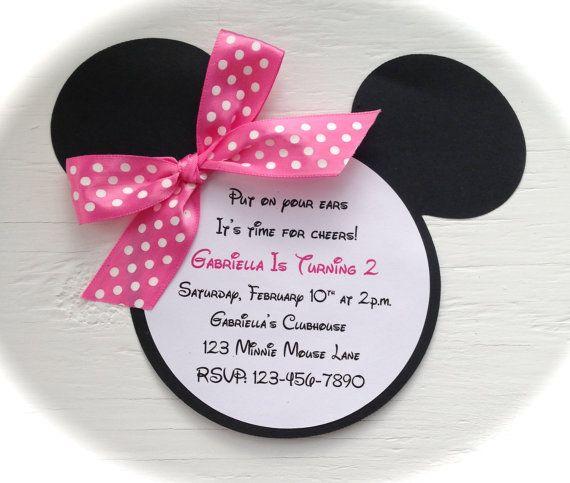 Minnie Mouse Invites Fiestas Invitaciones De Cumpleaños
