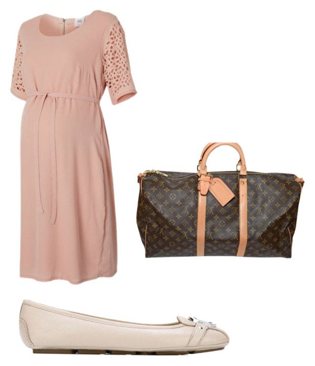 """Kyoya Maternity"" by shattereddemon ❤ liked on Polyvore featuring Mama.licious, MICHAEL Michael Kors and Louis Vuitton"