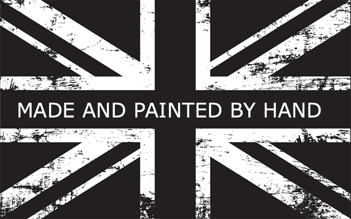 All our panels are made and painted by hand  in the UK.
