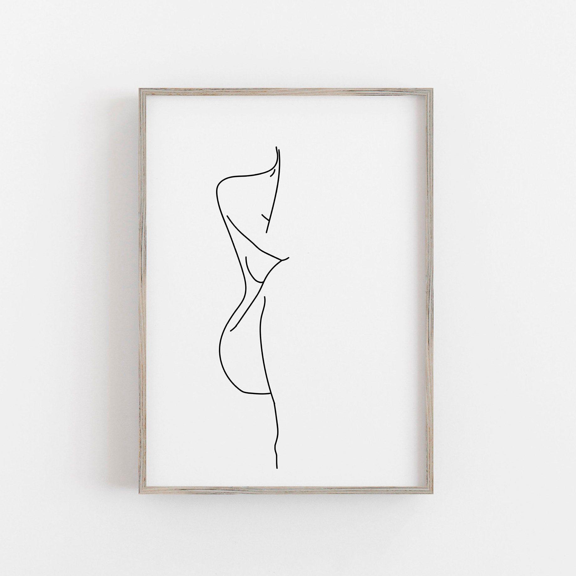 Woman Figure Drawing Female Figure Print Black White Poster Etsy In 2020 Figure Drawing Female Line Art Drawings Figure Drawing