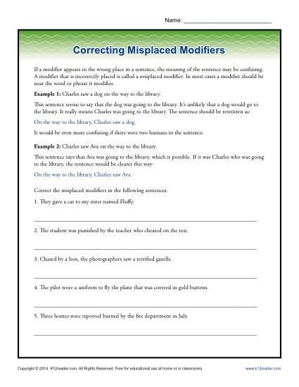 Dangling Modifier Worksheet High Tags Modifi on Misplaced moreover Dangling Modifier Worksheet Beautiful 172 Best Teach the World in addition Dangling And Misplaced Modifiers Worksheet The best worksheets image together with Dangling Modifier Worksheet   Free Printables Worksheet together with Dangling modifiers  video    Khan Academy besides Correcting Dangling Modifiers   Word Usage Worksheet likewise Unique 39 Best Teaching Resources Images On Pinterest Misplaced and as well  additionally  further Worksheet Dangling Modifier Review Of Books Nev on Misplaced besides Correcting Misplaced Modifiers   Tah worksheet   Modifiers grammar likewise  together with Grammar Bytes  Presents    Finding and Fixing Misplaced and Dangling additionally Funny dangling modifier errors by AWalkerEducation   Teaching likewise Dangling Modifiers Worksheet as well Participle Worksheets Grammar Past Worksheet 7th Grade Participles. on misplaced and dangling modifiers worksheet