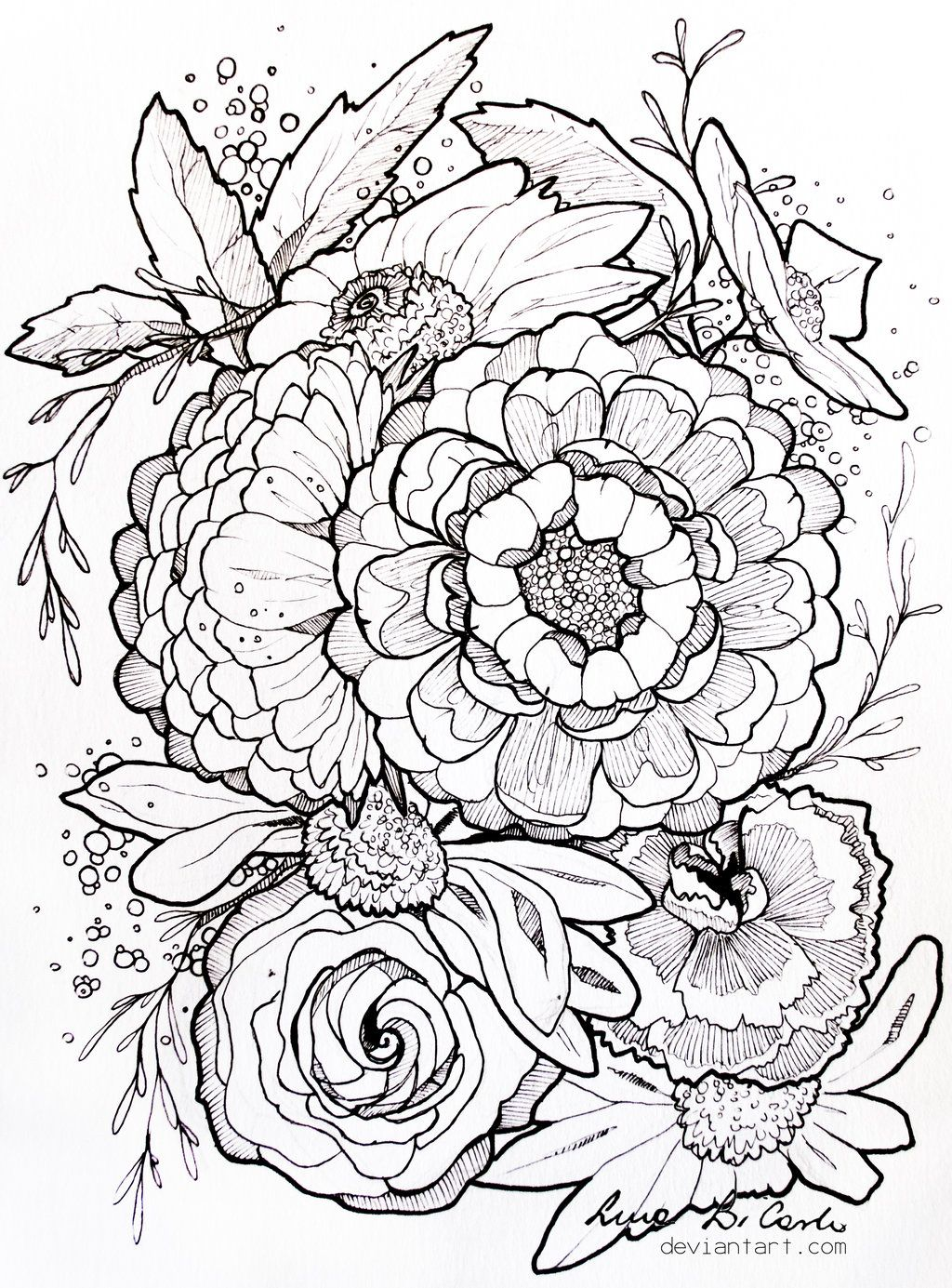 - Flower Design, Really Fully And Detailed Designs Coloring Books