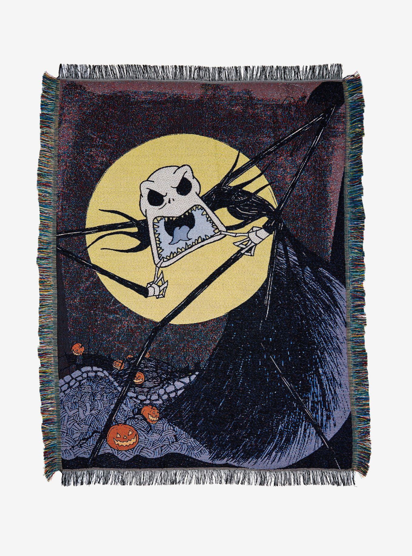 The Nightmare Before Christmas Scary Jack Woven Tapestry Throw ...