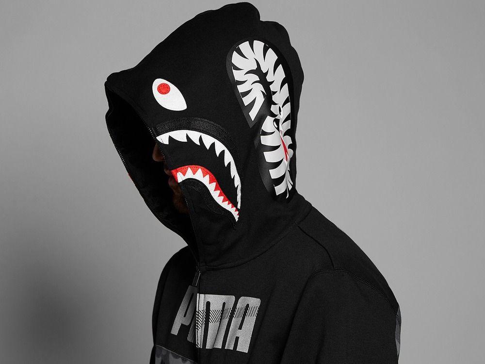 puma x bape shark hoodie black camo xl photo 1 4 puma. Black Bedroom Furniture Sets. Home Design Ideas