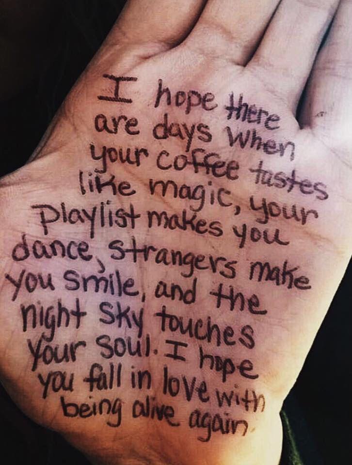 Ich hoffe, Sie verlieben sich wieder in das Leben  #hoffe #leben #verlieben #wieder