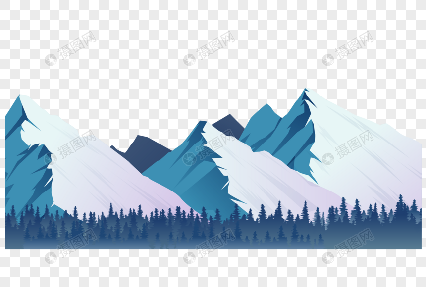 Aesthetic Snow Mountain In Winter Winter Winter Aesthetics Snow Mountain Forest Snow Scene Fresh Template Design Web App Design Vector Graphics