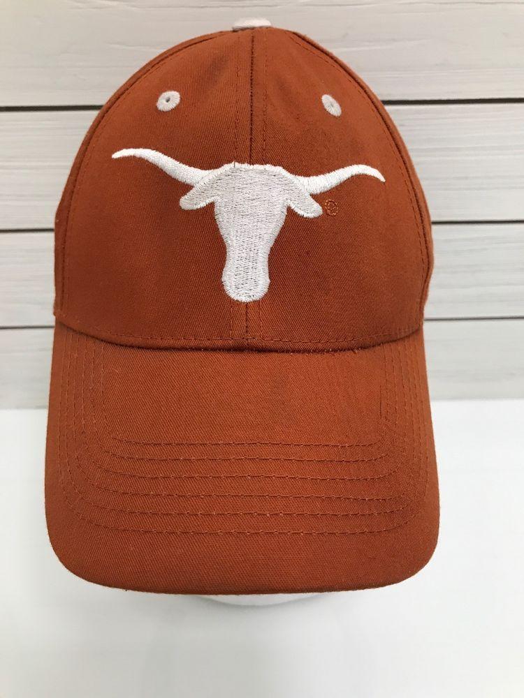 09f1c030d Cowboy Texas Longhorn White Bull Steer Orange Baseball Strapback Hat ...