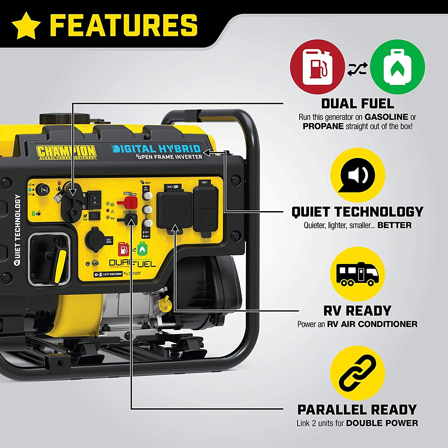 """Acquire early reviews"" Champion Power Equipment 100574"