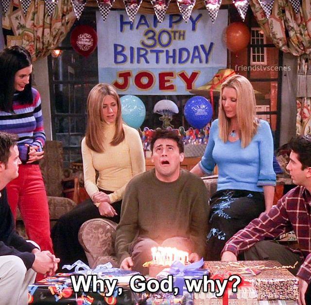 Joey's 30th Birthday   Tv: friends, Friends tv show ...