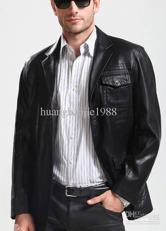 Mens leather suit jacket - Cheap online clothing stores ...