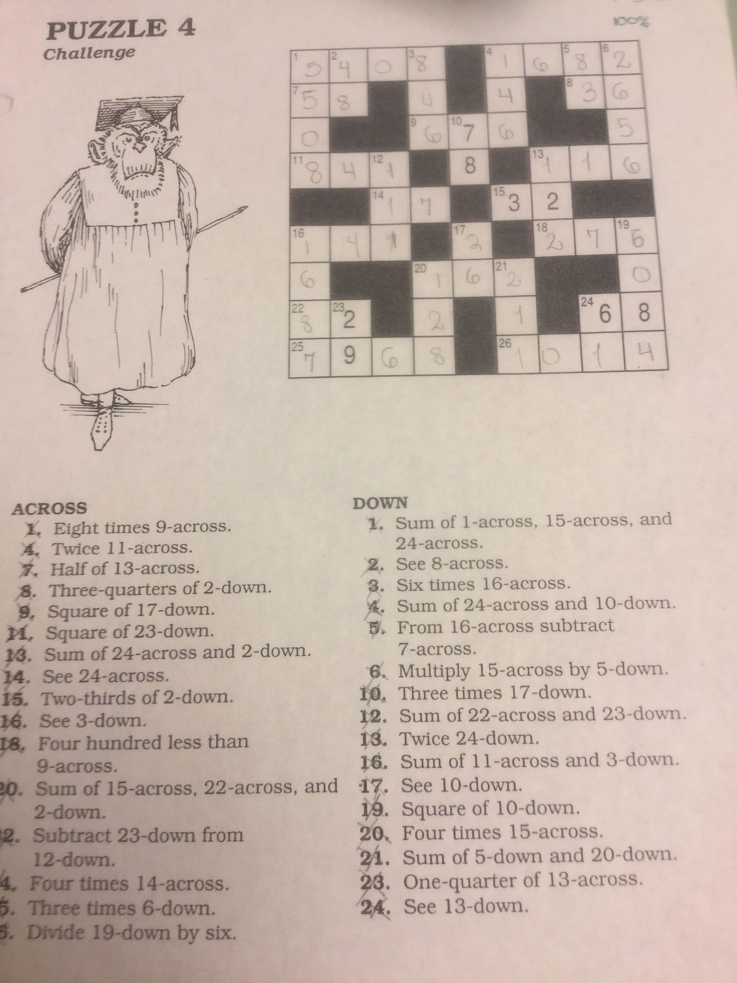 Puzzle 4 crossmatics dale seymour publications pinterest puzzle 4 fandeluxe Choice Image