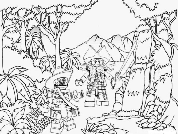 Lego Jungle Coloring Pages Pirate Coloring Pages Lego Coloring Pages Bird Coloring Pages