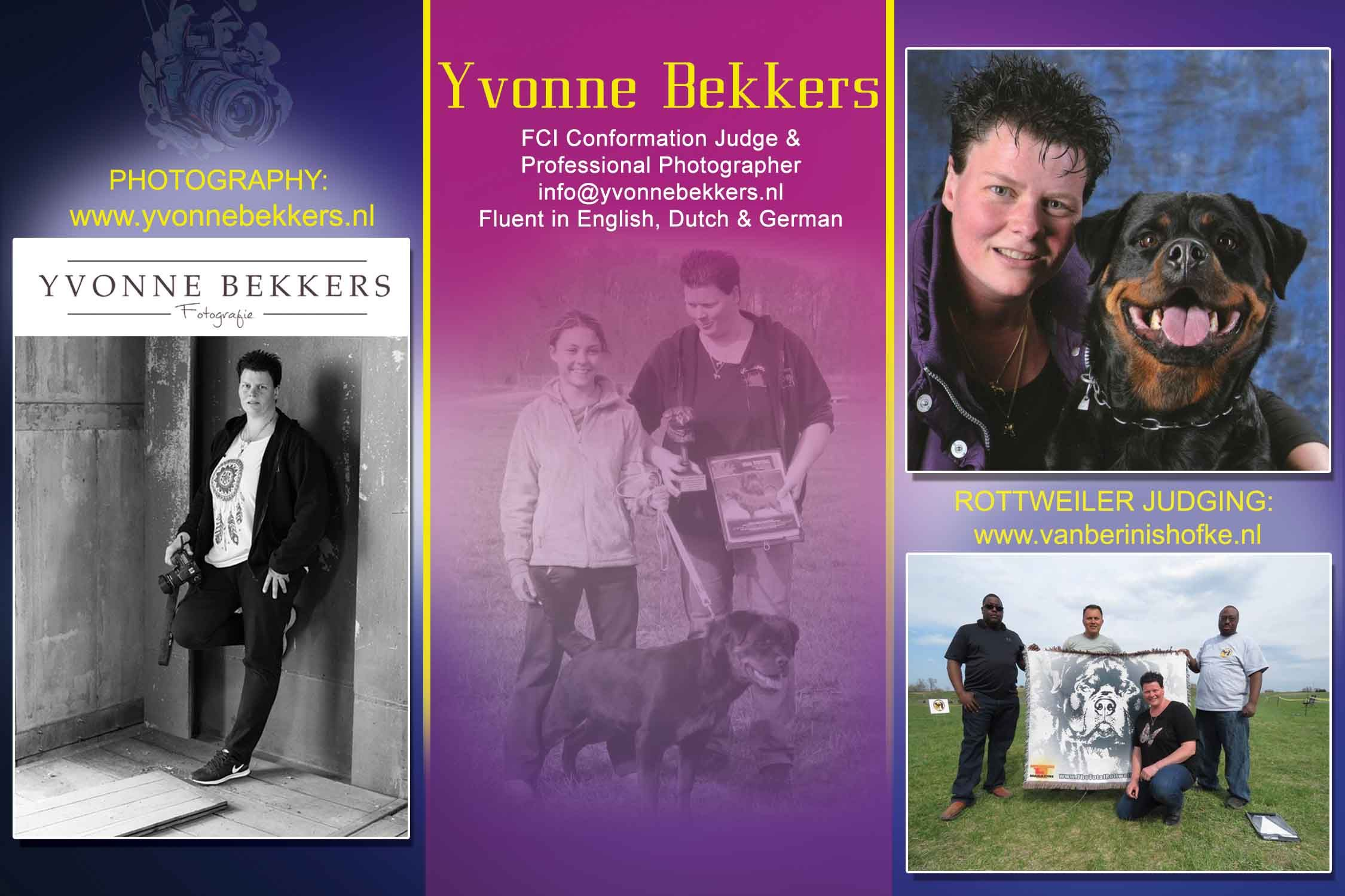 Yvonne Bekkers Fci Conformation Judge Professional Photographer