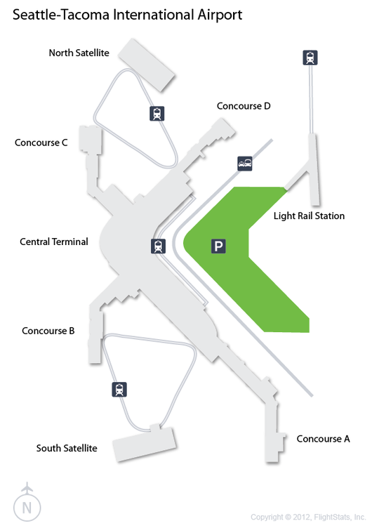 SEA) Seattle-Tacoma International Airport Terminal Map | Been There ...