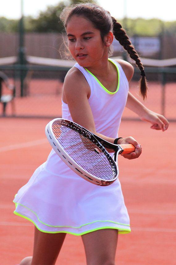 Wimbledon White Racerback Girls Tennis Dress Girls Tennis Clothes Junior Tennis Wear Outfit White Tennis Dress Tennis Dress Girls Tennis Dress