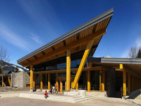 Great Front View Of Public Library With Refreshing Natural Elements