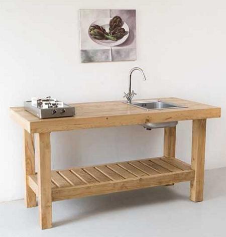 Fregadero minimal rustico lavaplatos - Muebles de madera rusticos para cocina ...