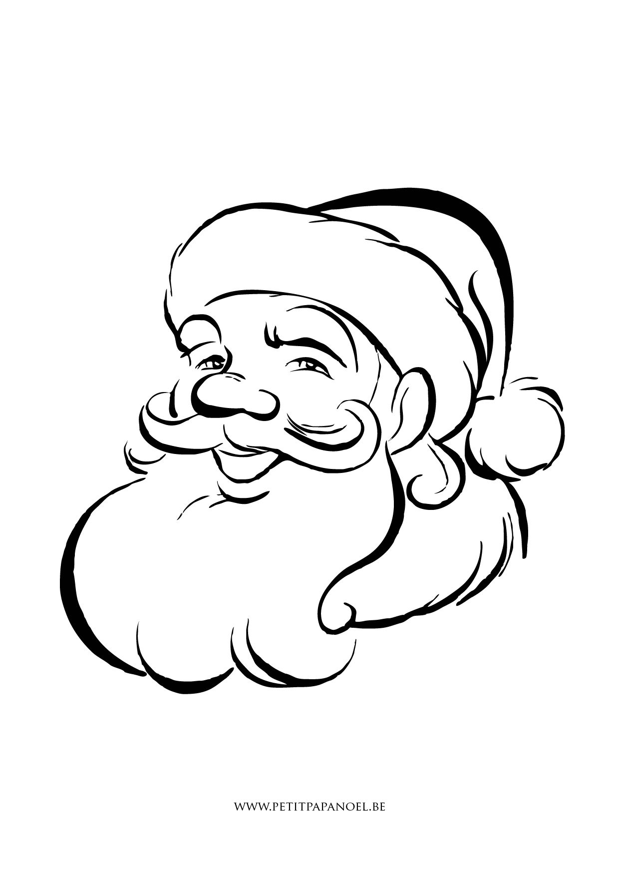 Pin By Martha Cowan On Patterns Santa Coloring Pages Easy