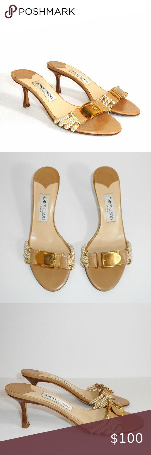 Jimmy Choo Vintage Rope Buckle Kitten Heel Sandal In 2020 Kitten Heel Sandals Jimmy Choo Shoes Heels Shoes Women Heels