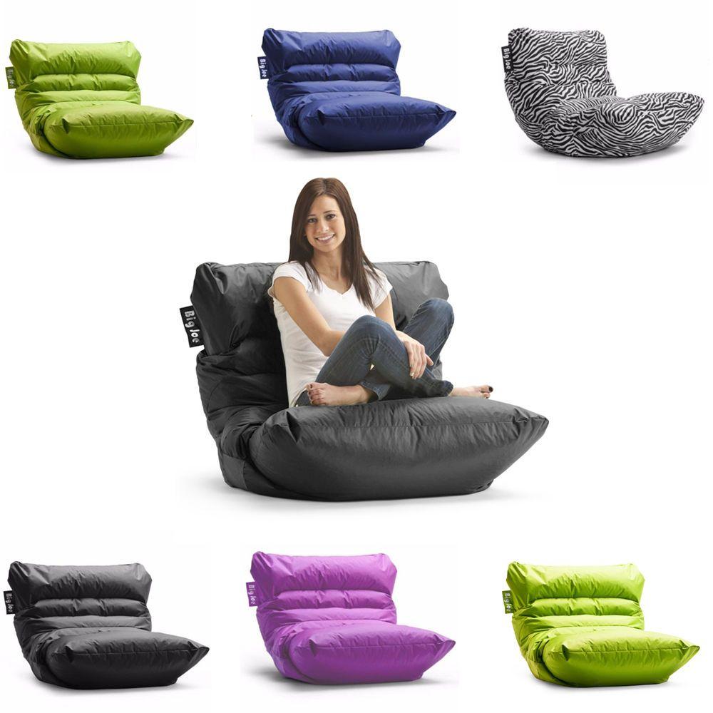 Large bean bag chair game room dorm cozy big joe comfort
