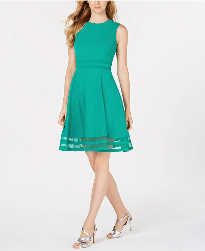 b6411504 Illusion-Trim Fit & Flare Dress in 2019 | Products | Fit flare dress ...