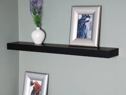 Welland 36 Inch X 6 Inch X 2 Inch Austin Wall Shelf Display Floating Shelves Black By Welland 34 00 Easy To Install I Floating Wall Shelves Floating Shelves Wall Shelves