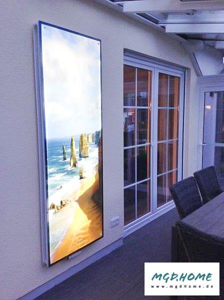 leuchtende Glaswand in der Küche Spritzschutz mit bedrucktem Glas