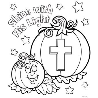 Shine His Light Halloween Coloring Pages Sunday School Crafts Halloween Coloring