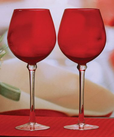 Look what I found on #zulily! Jubilant Wine Glass - Set of Two #zulilyfinds