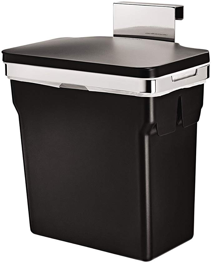 Amazon Com Simplehuman 10 Liter 2 6 Gallon In Cabinet Trash Can Heavy Duty Steel Frame Black Home Kitchen Kitchen Trash Cans Simplehuman Trash Can