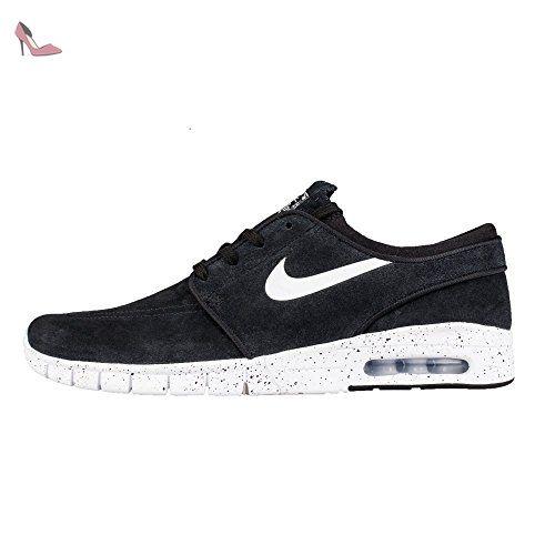 Nike Stefan Janoski Max L, Chaussures de Skate Homme, Noir / Blanc ...