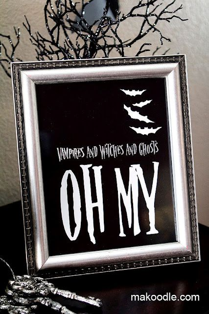 5 Halloween Decor Printables ~ Be DifferentAct Normal Fall