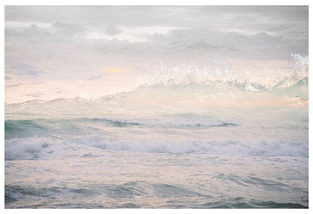 Abstract Ocean Wall Art Waves Print Large Pink Artwork Water Art Beach Landscape Photography Oversized Art Panoramic Poster 24x36 Ocean Waves Photography Photography Wall Art Extra Large Wall Art