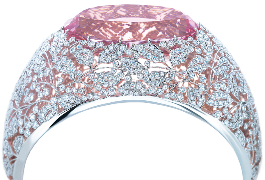Photo of Pink jewels from the Tiffany & Co. Blue Book.