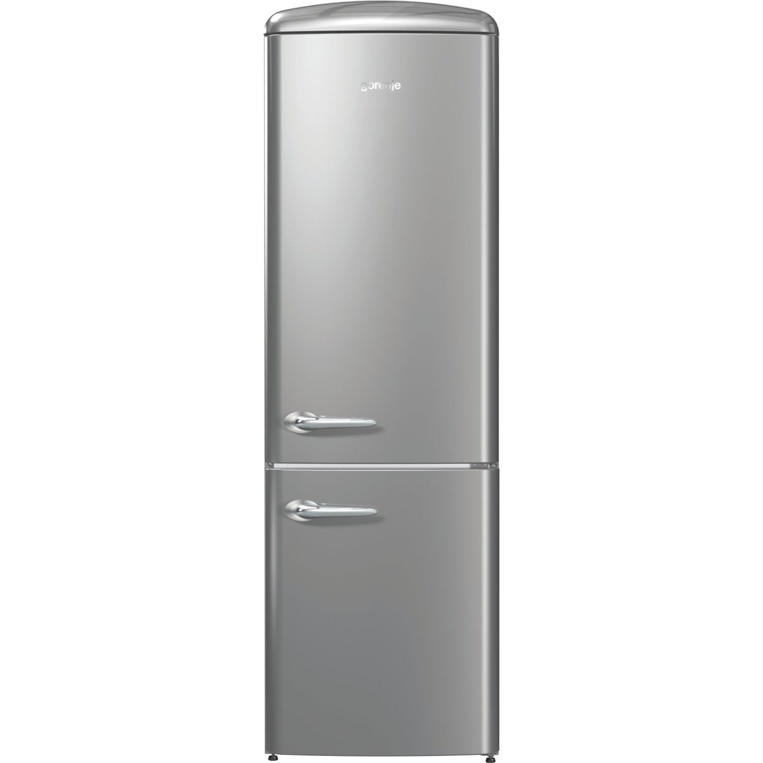 gorenje ORK193X 188.7cm Retro Freestanding Silver Fridge Freezer ...