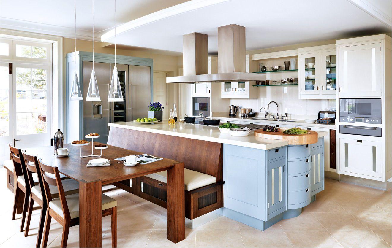 Cocinas grandes con isla buscar con google cocina for Cocinas modernas con isla central y desayunador